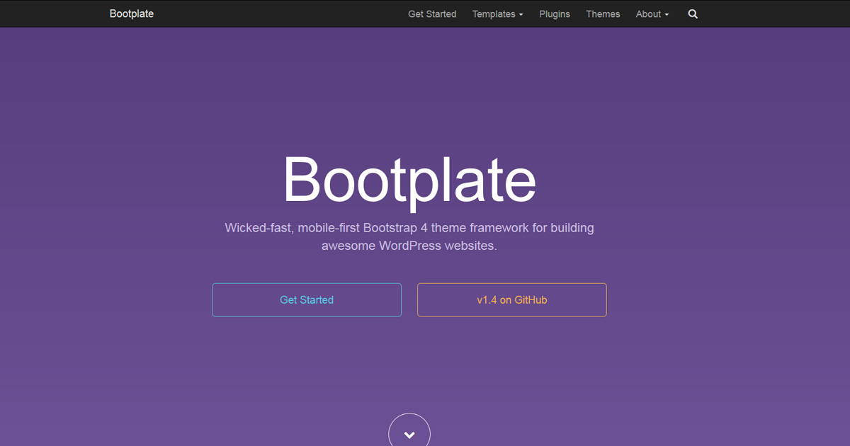 Free wordpress bootstrap 4 theme framework bootplate by jdm digital maxwellsz